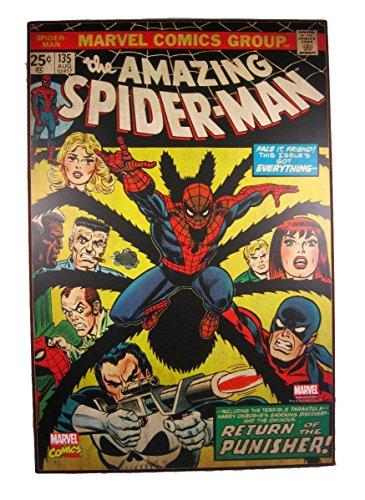 "Silver Buffalo The Amazing Spider-Man Vintage Look Wood Wall Art 19"" x 13"""