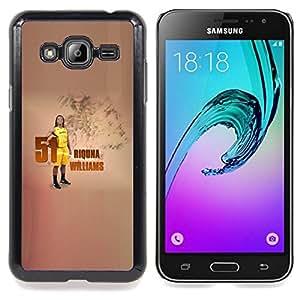 51 R Williams - Basketball Caja protectora de pl¨¢stico duro Dise?ado King Case For Samsung Galaxy J3