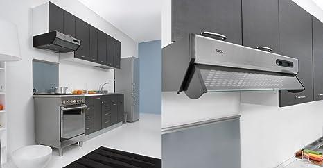 Mueble para fregadero de cocina, de 135 x 60 cm, con doble puerta, combinable con fregadero de acero inoxidable, disponible en tres colores: Amazon.es: Hogar
