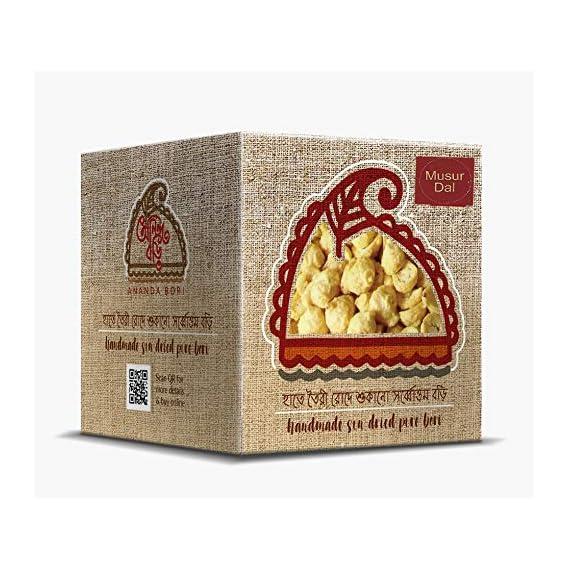 Ananda Bori Pure Bengali Delicious Musur Bori 120g (Pack of 3) - 360g