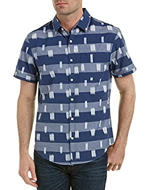 Mens Heritage Slim Fit Woven Shirt, M, Blue