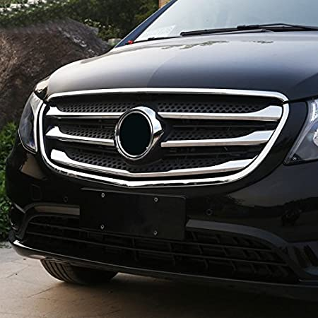 Amazon.com: Mercedes-Benz Vito W447 2014-2018(Not fit in The V-Class The Metris) ABS Chrome Exterior Front Bottom Under Grill Grid Grille Decoration Cover ...