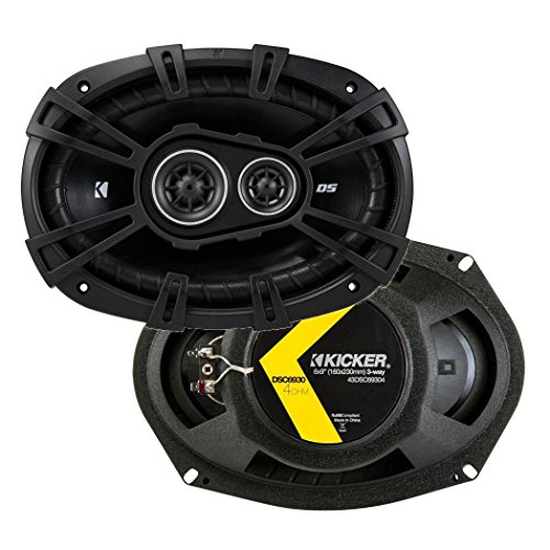 KICKER D-Series 3-Way Coaxial Speakers and Q Power 6x9 in Box Enclosures - Way Coaxial Inch 3 9