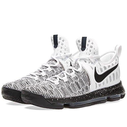 Nike Mens Zoom Kd 9 Oreo Basketbalschoenen Wit / Zwart 843392-100 (8 D (m))