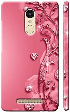 detailed look 1beee 43a97 Clapcart Designer Printed Mobile Back Cover for Xiaomi Redmi Note 3 -Pink  color(Heart Design Print For Girls)