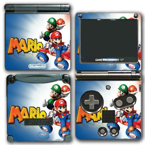 Mario Kart Luigi 7 8 Powerup Red Shell Video Game Vinyl Decal Skin Sticker Cover for Nintendo GBA SP Gameboy Advance System (Mario Kart Game Boy Advance compare prices)