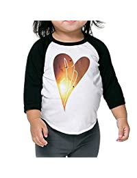 Toddler's The Smashing Pumpkins Sp Heart 3/4 Sleeves Raglan Tshirt