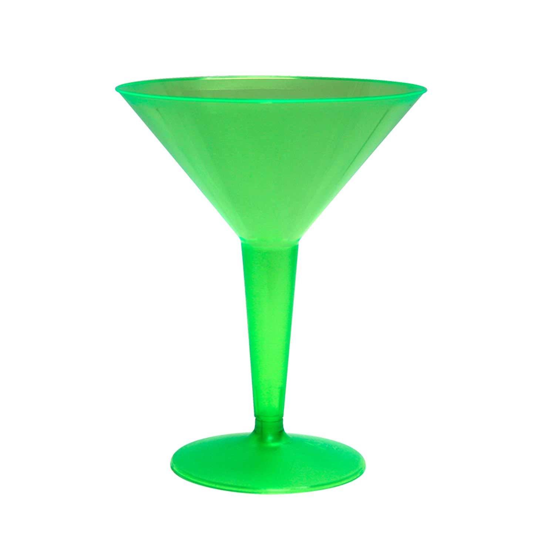 respuestas rápidas Party essentials plástico duro dos piezas 8-Ounce 8-Ounce 8-Ounce copas de Martini  sin mínimo