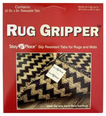 Optimum Technologies SNP-3X3TABS Non-Slip Tabs for Rugs and Mats, 3 x 3-In, 4-Pk. - Quantity 1