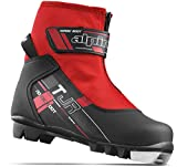 Alpina Sports Youth TJ Touring Ski Boots With Strap & Zippered Lace Cover, Euro 33, Black/Red