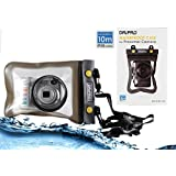 Navitech Black Waterproof Underwater Housing Case / Cover Pouch Dry Bag For The Canon 111C012BA SX610 HS PowerShot Point and Shoot Digital Camera