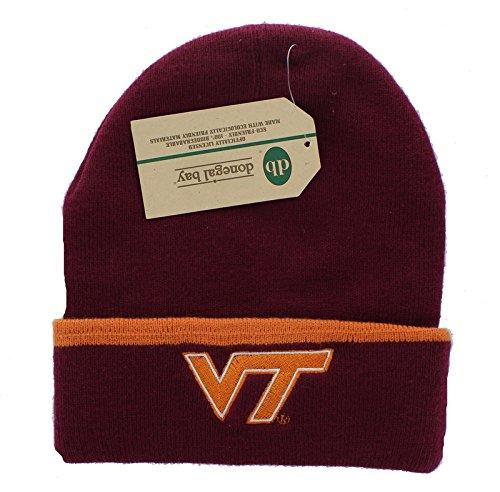 New! Virginia Tech Hokies Embroidered Beanie Hat Cuffed Knit Skull Cap -  Donegal Bay Headwear