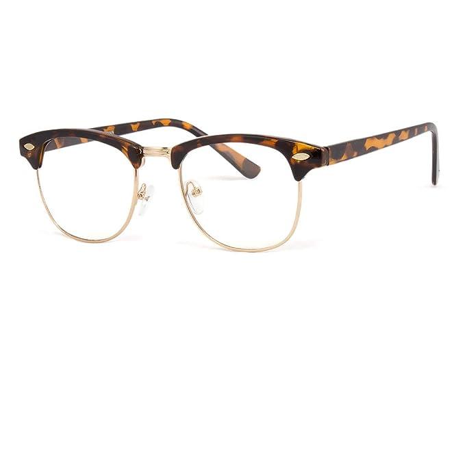 Amazon.com: Gafas de metal para hombre y mujer, estilo retro ...