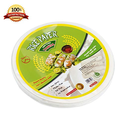 (Tanisa Spring Roll Rice Paper Wrapper for Fresh roll (22cm,Round,12 oz ) (goi cuon))