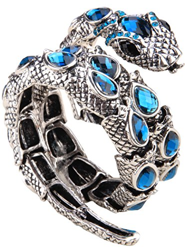 YACQ Jewelry Women's Crystal Stretch Snake Bracelet for Women Halloween Costume -