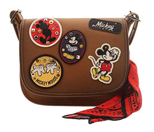 COACH MICKEY Patricia Saddle 23 in Glove Calf Leather with Mickey Patches by Coach