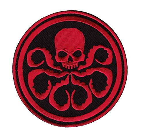 Hydra Captain America The First Avenger Shield Marvel Superhero Cartoon Logo Kid Baby Boy Jacket T shirt Patch Sew Iron on Embroidered Symbol Badge Cloth Sign Costume By Prinya - Ironman Shop Online