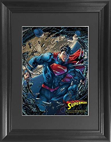 Superman Tin - Superman Man of Steel Framed DC Comics Framed 3D Lenticular Poster - 14.5x18.5