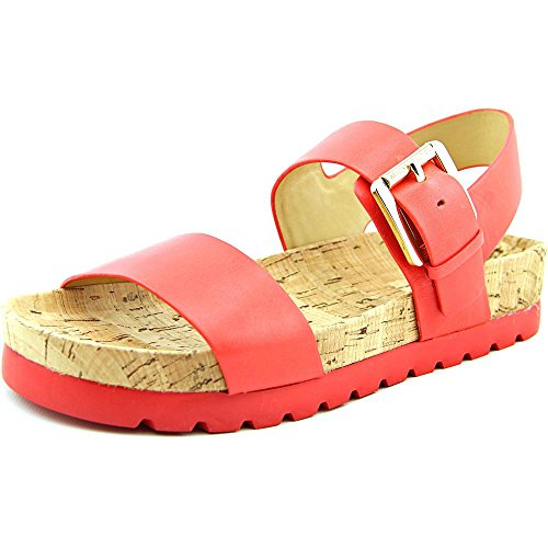 - Michael Kors Judie Womens Coral Reef Leather Slingback Sandal