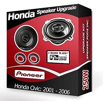 Pioneer Honda Civic Altavoces de Puerta Frontal Altavoces de ...