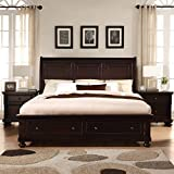 Product review for Roundhill Furniture Brishland Storage Bedroom Set Includes Dresser, Mirror and 2 Nighstands, King Bed, Rustic Cherry