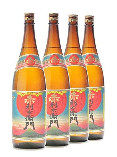 赤利右衛門1800ml ×4本セット 芋焼酎 指宿酒造 B07FXP1HWJ