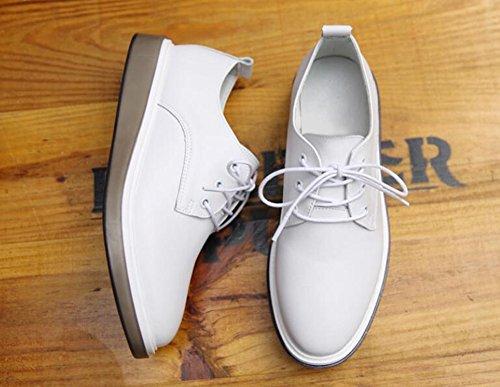 Top Herbst Einzelne Farbe Weiß Wind LUN Lederschuhe Weiß British Sport Damen Frühling Casual Schuhe Freizeitschuhe Schuhe Größe Sommer Frauen Low Mode Freizeitschuhe 39 Schuhe Bequeme UnXIOqw