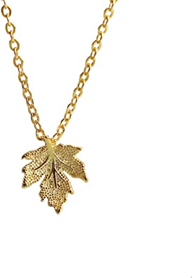 Girlfriend Necklace. Birthday Present Natural leaf Jewelry Gold Leaf Pendant Necklace Delicate Necklace Gift Gold plated Real Leaf