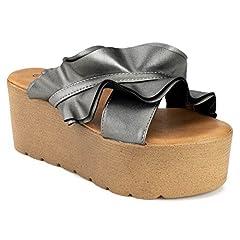 85fcfc178c4 Women s Open Toe Espadrille Lug Sole Summer Slip on Platform .