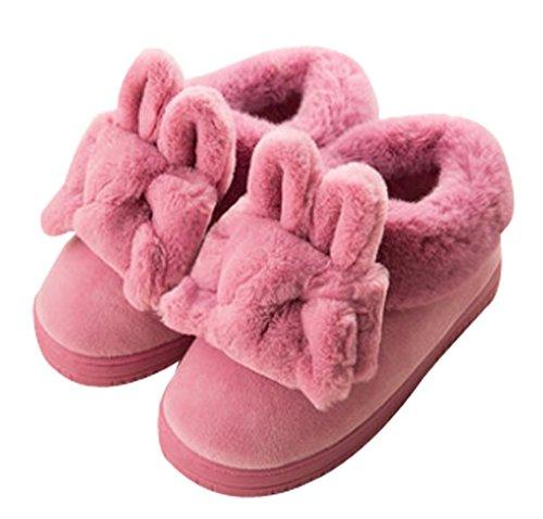 Cattior Womens Foderato Di Pelliccia Pantofole Calde Scarpe Da Donna Per Interni Viola