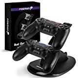 Fosmon PS4 DualShock Controller Charger, High Speed Dual USB Charging Dock, Charger Docking Station Stand with LED Indicator for Sony PlayStation 4 / Slim / Pro
