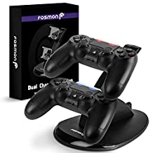Fosmon PS4 Controller Charger, High Speed Dual USB Charging Dock, DualShock 4 Charger Docking Station Stand with LED Indicator for Sony PlayStation 4 / Slim / Pro