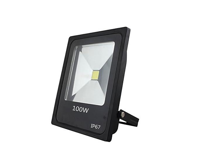 Foco Proyector LED 100 W super luminoso blanco frío exterior ...
