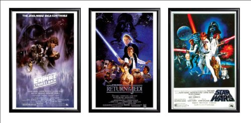 star wars poster framed - 5