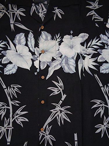 a6682b80 Hawaiian Shirts Mens Bamboo Tree Print Beach Aloha Party Holiday