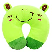 Easydeal Cartoon Animals U-shaped Pillow Neck Support Car Seat Travel Neck Rest Cushion (Green Frog)