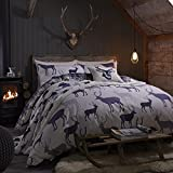 Grampian Stag Duvet Cover Set In Navy - Double by Catherine Lansfield
