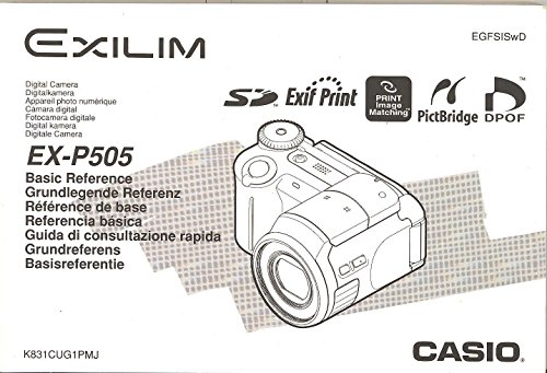 - Casio Exilim EX-P505 Digital Camera Basic Reference Manual - Multi-Language