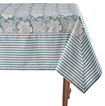 Mahogany Era Aqua Tablecloth, 60u0026quot; ...