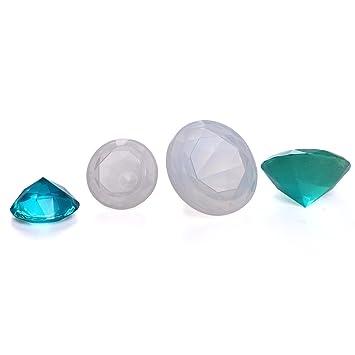Doble Uno cristal de silicona moldes para resina cabujón diamante joyería moldes para el hogar mesa decoración DIY moldes 2pcs: Amazon.es: Juguetes y juegos