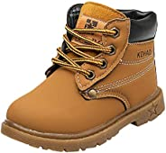 Toddler Baby Boys Girls Autumn Winter Martin Boots Shoes for 1-6 Years Old,Child Kids Solid Lace-Up Warm Sneak