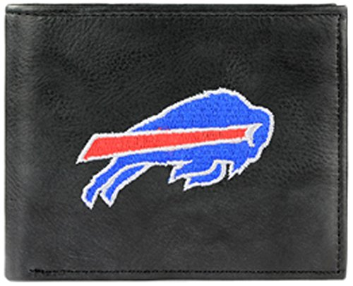 NFL Buffalo Bills Embroidered Genuine Leather Billfold (Buffalo Bills Nfl Leather)