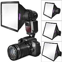 Softbox ligero difusor de flash (paquete de 3) de Altura Photo (universal, plegable con bolsa de almacenamiento) para Canon, Yongnuo y Nikon Speedlight