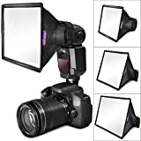 (3 Pack) Flash Diffuser Light Softbox Altura Photo (Universal, Collapsible Storage Pouch) Canon, Yongnuo Nikon Speedlight
