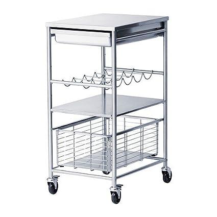 Ikea Grundtal - Camarera de acero inoxidable; (54 x 41 x 90 ...