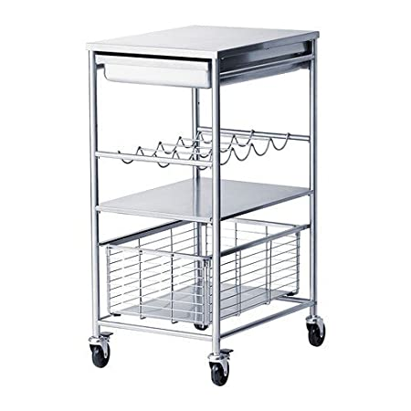 Ikea Grundtal - Carrello portavivande in acciaio inox; (54 x ...