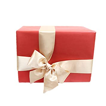 Christmas Gift Boxes With Ribbon Foam Paper Pre Wrapped Present Box