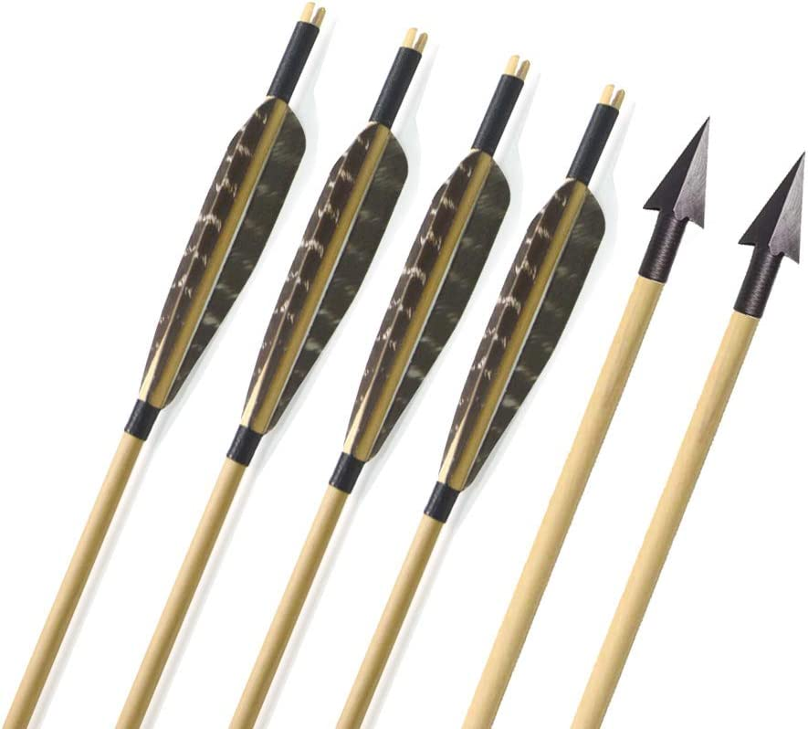 "Black 31/"" Archery Carbon Arrows Recurve Bow Longbow Hunting Arrowheads Broadhead"