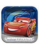 American Greetings Boys Cars 3 Dinner Square Plate(8 Count)