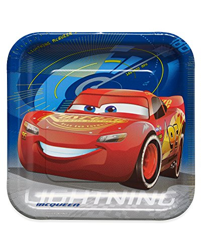 Find Cheap American Greetings Boys Cars 3 Dinner Square Plate(8 Count)